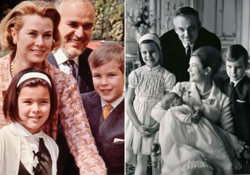 Grace Kellynek és férjének három gyermeke született: Caroline és Stéphanie hercegnő, illetve II. Albert herceg, akik 11 csemetével bővítették a királyi családot, de sajnos a színésznőből lett hercegné egyik unokája világrajövetelénél sem lehetett már jelen.