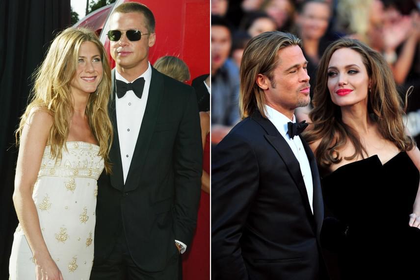Talán a leghíresebb eset Brad Pitt, Jennifer Aniston és Angelina Jolie hármasa - a színész a Mr. és Mrs. Smith forgatásán mindent felrúgott a világ legszexibb nőjének választott Jolie-ért.
