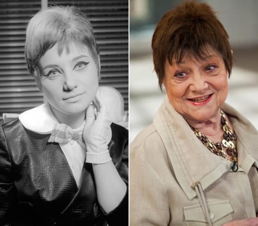 A bal oldali fotó 1965-ben készült róla Norman Krasna Egy vasárnap New Yorkban című zenés művében a Madách Színház Kamaraszínházában. A darabban Peggyt alakította. Csűrös Karola eleinte naiva-szubrett szerepet kapott, ám hamarosan érett karakterszínésszé vált.