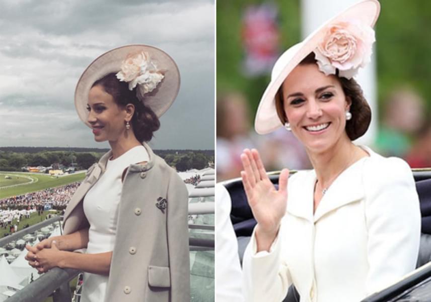 Vajna Tímea 2016 júniusában vett részt a brit arisztokrácia és társadalmi elit gyülekezőhelyének számító lóversenysorozaton, a Royal Ascoton. Andy Vajna nejének Katalin hercegné stílusát lemásolva egy egyszerű szabású, hófehér ruhára esett a választása, amit egy feltűnő, elegáns kalappal egészített ki.