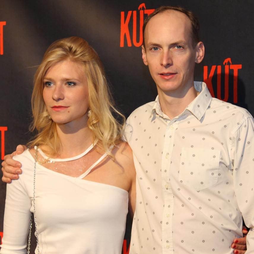 A Kút két fiatal szereplője: Kurta Niké és Jankovics Péter - utóbbi a kutas fiát játssza.