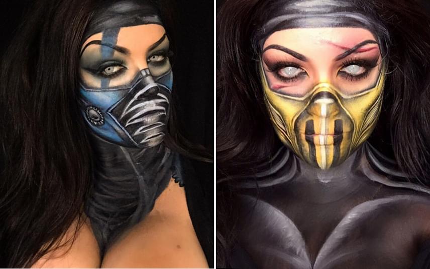 Nemcsak a mesék, mítoszok és horrortörténetek ihletik meg a sminkművészt, de időnként a számítógépes játékok is. Alkotásai között ezért időnként olyan izgalmas karakterek is előfordulnak, mint a Mortal Kombat széria nindzsái, Sub-Zero és Scorpion.
