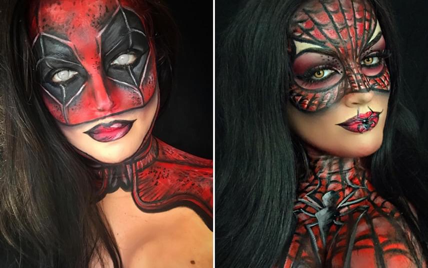 Natalie-nak nincs szüksége arra, hogy maszkot húzzon, ha Deadpoolnak vagy Pókembernek akar öltözni. Mindössze festékkel is képes nagyon hiteles illúziót létrehozni.