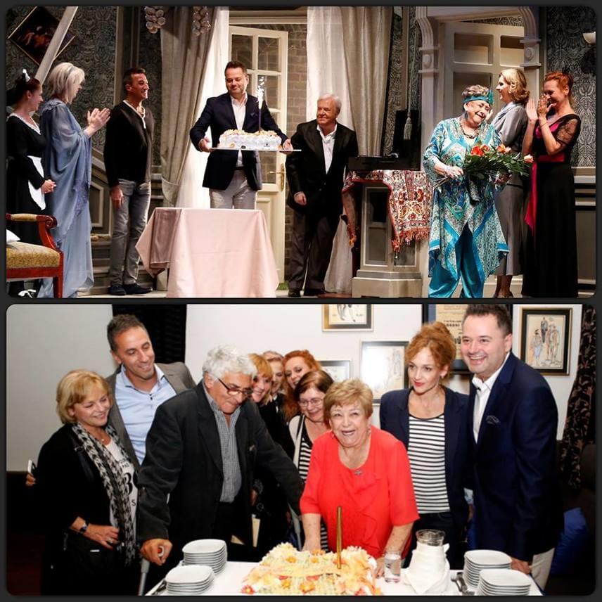 """""""Felköszöntöttük Pásztor Erzsit 80. születésnapja alkalmából! Zsurzs Kati szervezésében pályatársai, kollégái, családtagjai, Bank Tamás, a Játékszín igazgatója és a közönség ünnepelte Erzsikét, akinek még egyszer boldog születésnapot kívánunk"""" - köszöntötte a színésznőt a teátrum a Facebookon."""