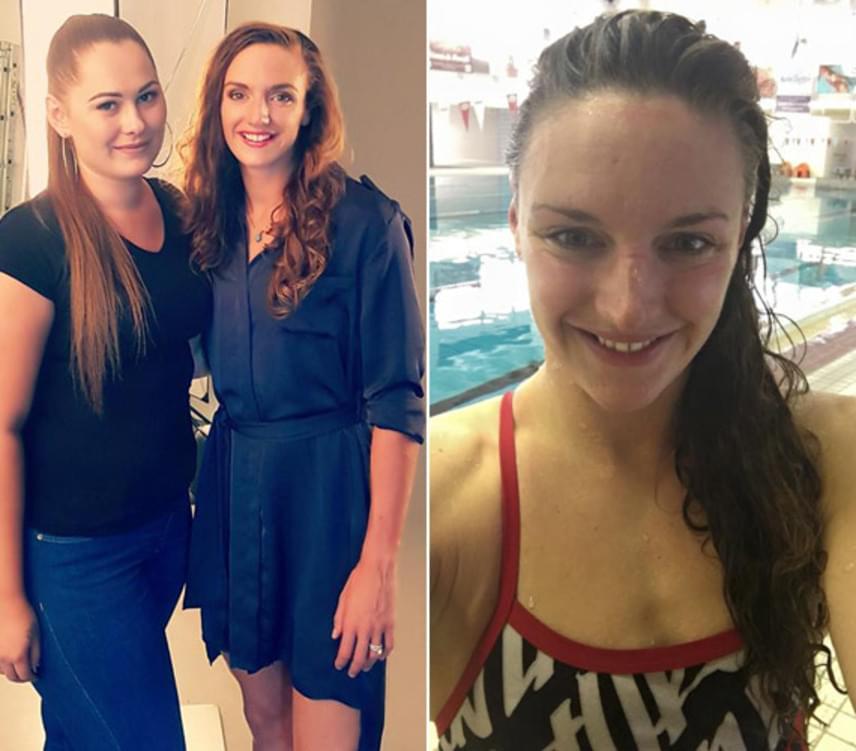 """""""Katinkát sminkelni hatalmas öröm volt számomra. Nagyon kedves és inspiráló személyiség. És imádta a sminkjét!"""" - áradozott az úszónőről a szakember."""