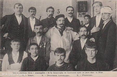 A túlélő francia bányászok