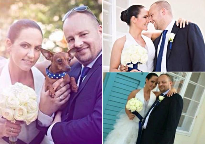 Vágó Péter és gyönyörű felesége, Emese két év együtt töltött idő után, 2014-ben házasodott össze, jövő tavasszal pedig megérkezik első gyermekük is.