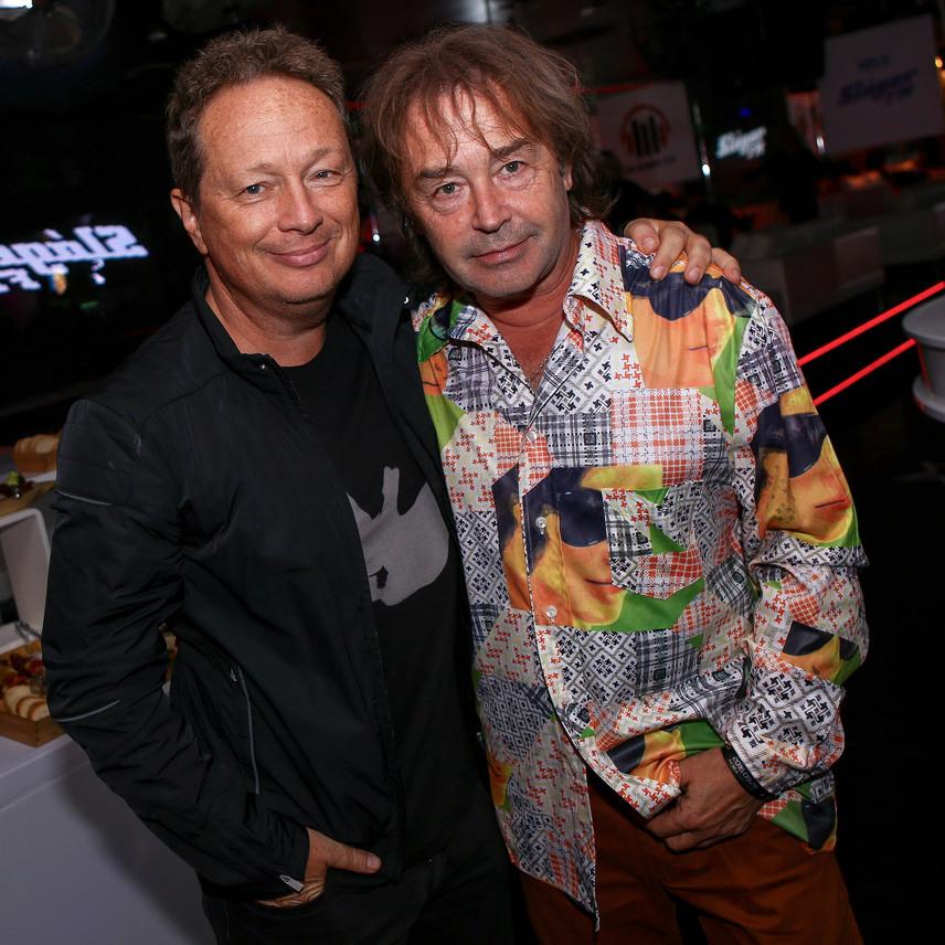 A X-Faktor két egykori mentora, a szöveggyáros Geszti Péter és az énekes Szikora Róbert.