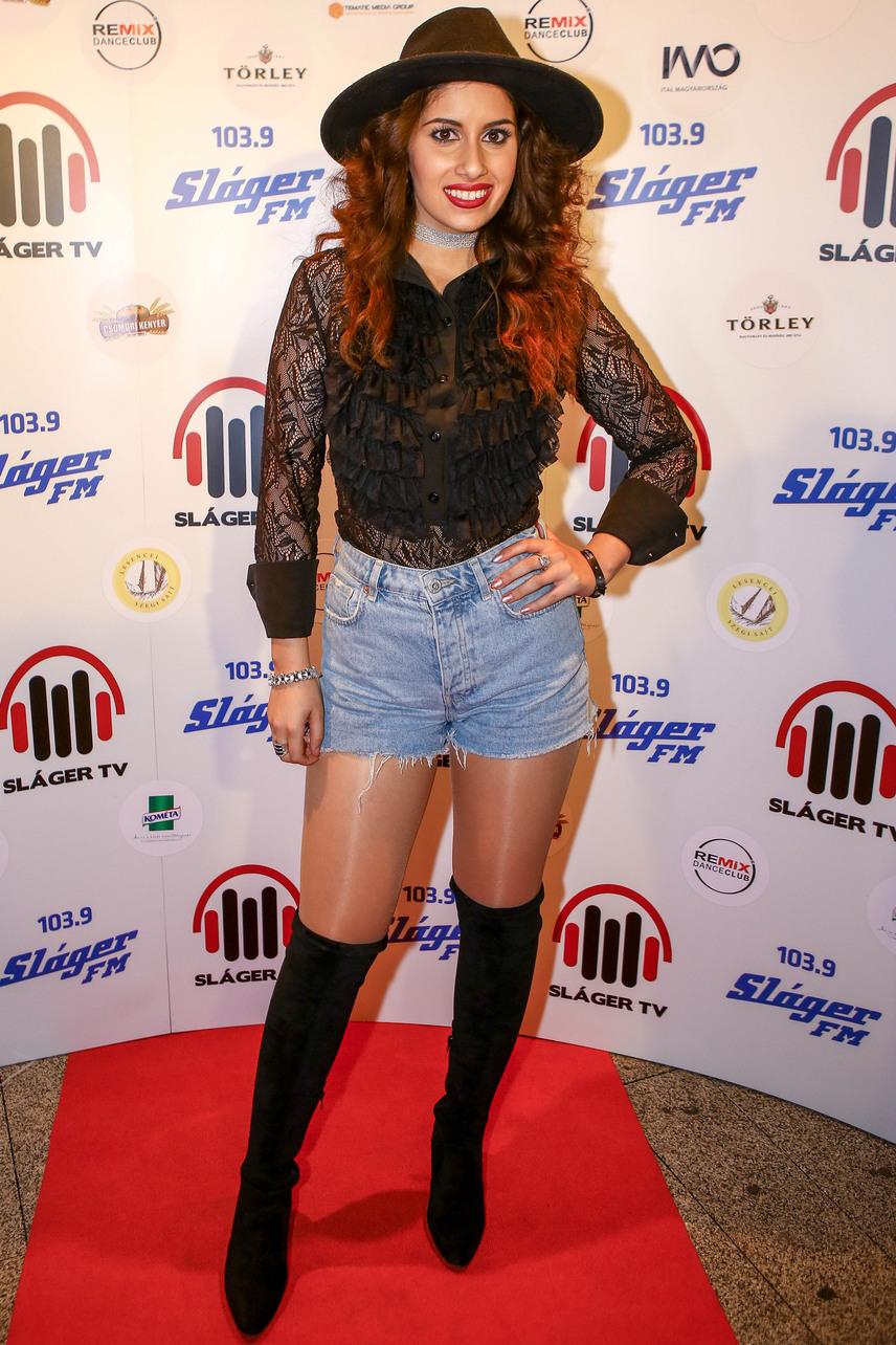 A hagyományteremtő céllal, idén először megrendezett Sláger Party legdögösebb sztárja Radics Gigi énekesnő volt.