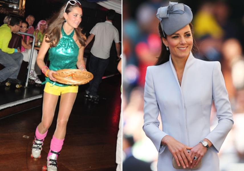 Katalin hercegné már akkor szeretett jótékonykodni, mielőtt Vilmos felesége lett. 2008-ban egy görkoris esten viselte a merész szín-összeállítású szettet, amit talán ma már le is tagadna.