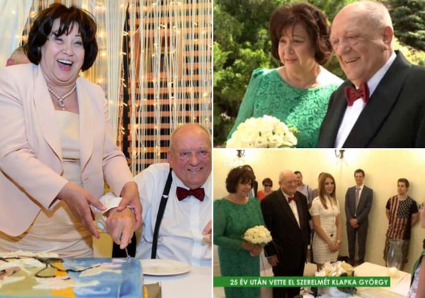 A 87 éves üzletember, Klapka György 2014 nyarán ötödszörre is megnősült, 25 év együttélés után vette el nála 14 évvel fiatalabb párját, Marit. A polgári szertartáson az ara egy smaragdzöld színű, csipkés ruhában, majd két napra rá, a 60 fős lagzi keretén belül egy púderszínű kiskosztümben jelent meg.