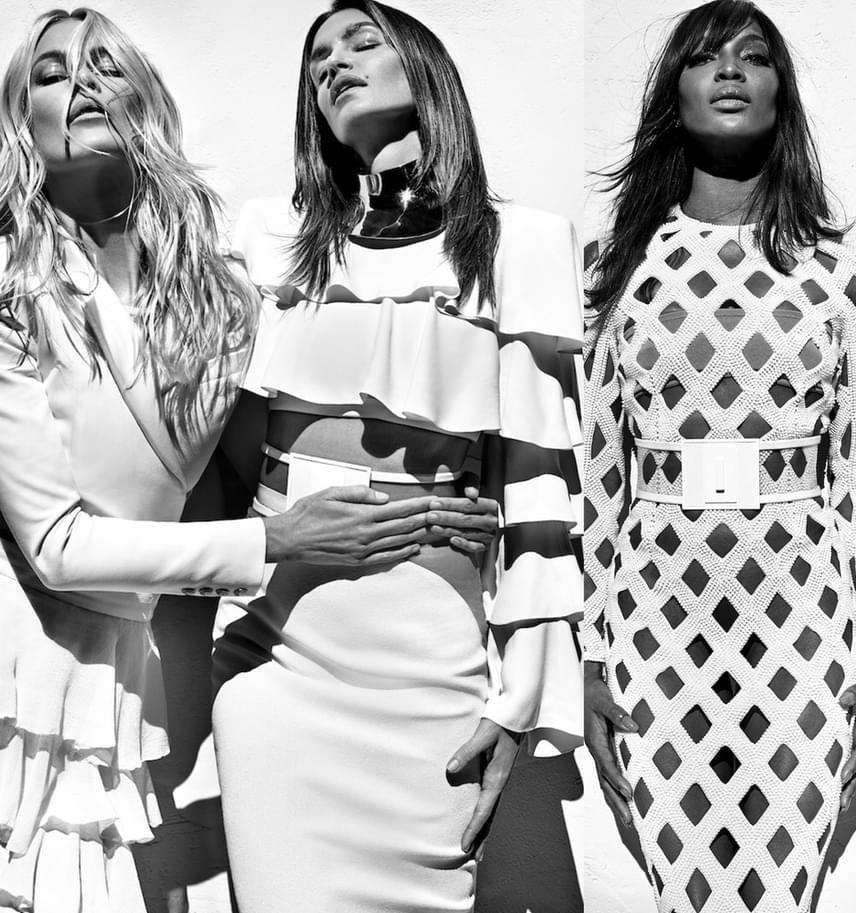 A fotózáson a szupermodell oldalán feltűnt két kolléganője, Claudia Shiffer és Naomi Campbell is, akik 40 felett is csodálatosak.