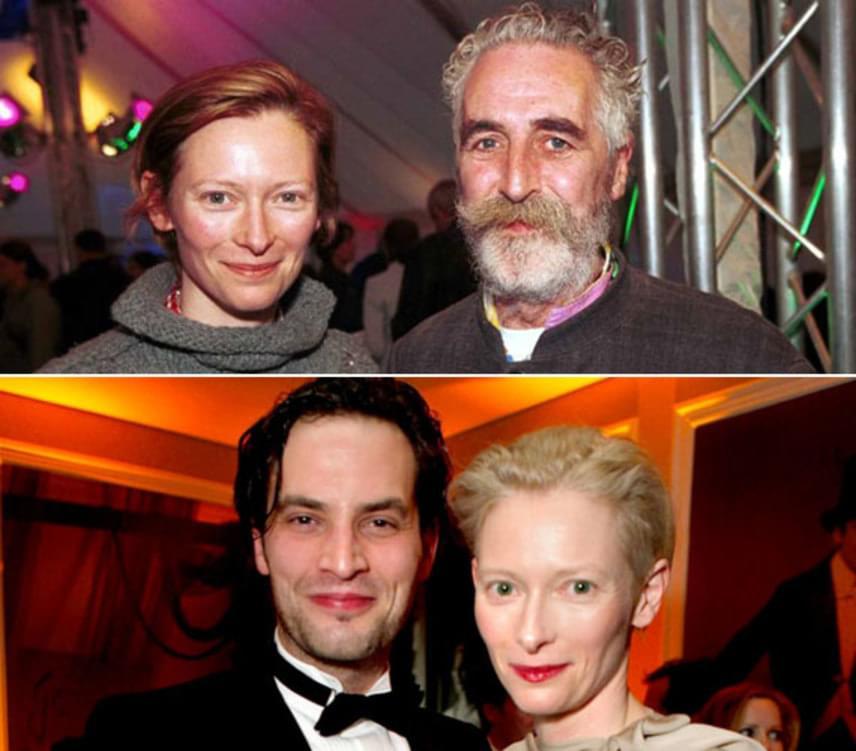Tilda Swinton nevéhez fűződik az egyik első bátran felvállalt nyílt házasság a sztárok között. Az Oscar-díjas színésznő férje és két gyermekének apja nem más, mint John Byrne drámaíró. Amikor kedvese beleszeretett a nála 20 évvel fiatal festőbe, Sandro Koppba, úgy döntöttek, hogy gyermekeik érdekében nem szakítanak, hanem egy fedél alá költöznek. Tilda Swinton azóta is Kopp párja, Byrne pedig időközben új párt talált magának.