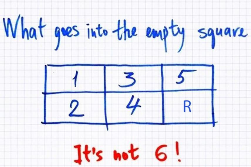 A négyzetből az R betű hiányzott. Kíváncsi vagy, miért? Kattints a következő képre!