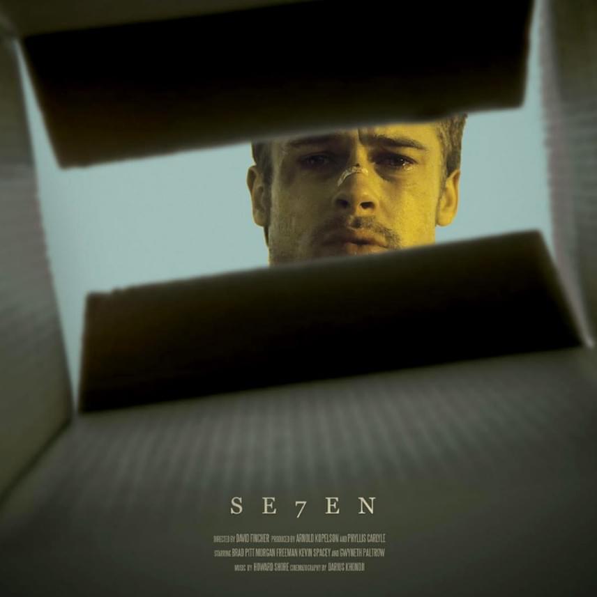 A Hetedik című filmhez készült plakát az internetezők kedvence, különösen a végkifejlet ismeretében.