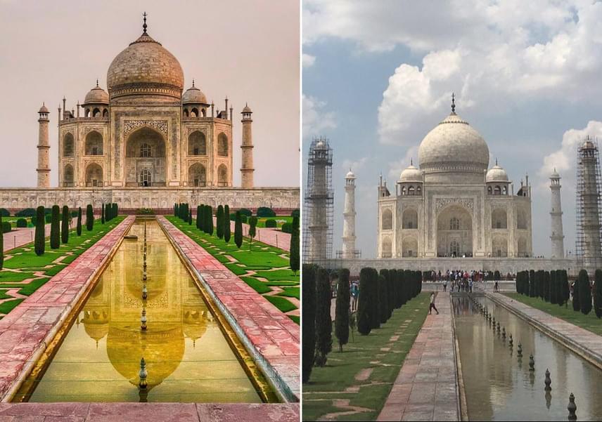 A megfelelő szögből, jó fényviszonyok között és egy kis utómunkával a Tadzs Mahal szépsége is fokozódik.