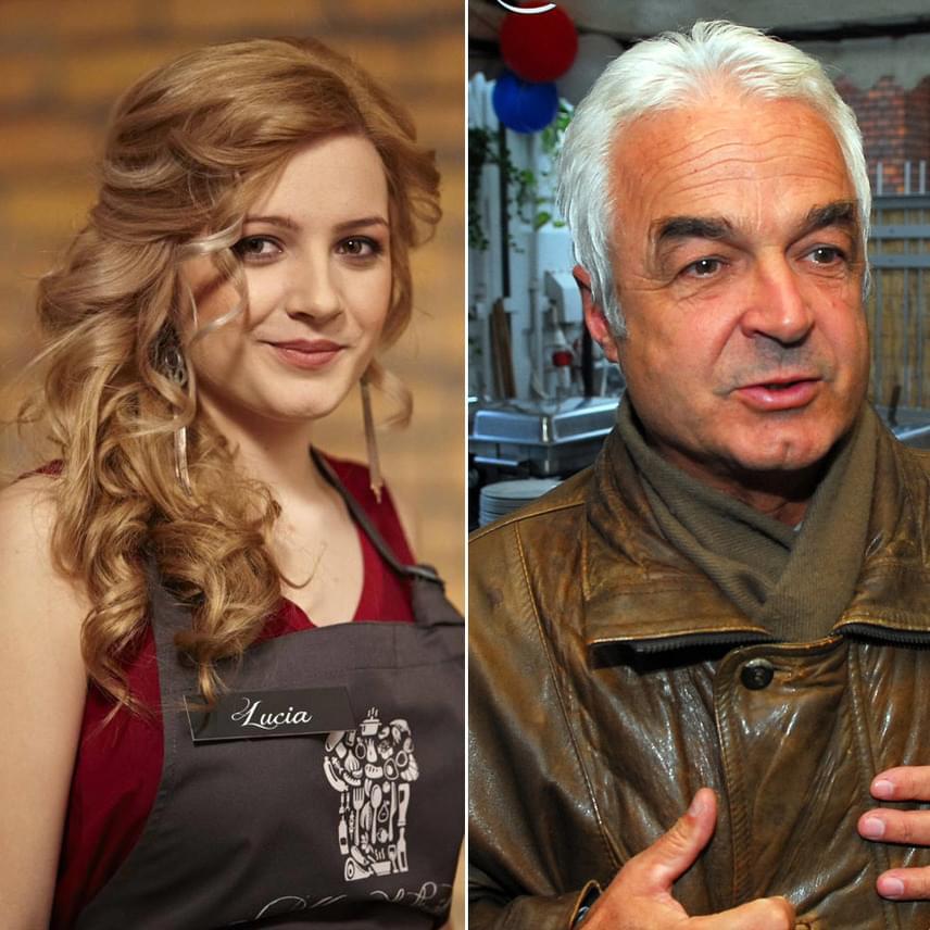 Aigner Szilárd kisebbik lánya, a 20 éves Lucia az RTL Klub A Konyhafőnök című műsorában mutatja be főzőtudását.