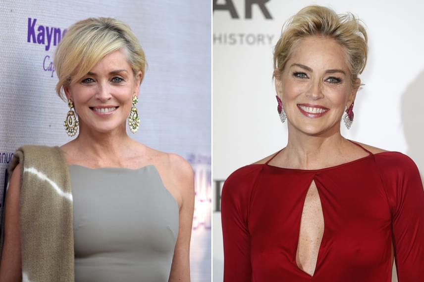 Sharon Stone-ról ránézésre aligha mondaná meg bárki, hogy mindössze két évre van a 60-tól. A színésznőnek nagyon jól áll a fiatalító szőke árnyalat és a hosszabb, féloldalas frufruval vágott rövid fazon, amelyet időnként előrefésülve, máskor hátrafelé szárítva visel.