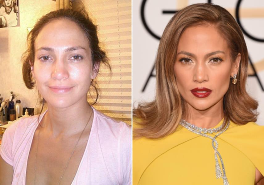 A 47 éves Jennifer Lopez a világ egyik legszexibb énekesnője, aki erotikus kisugárzásával és csábos pillantásával bármelyik férfit leveszi a lábáról. Azonban ha nem sminkeli magát, inkább egy szende tinilányra hasonlít, aki korából legalább 20 évet letagadhat.