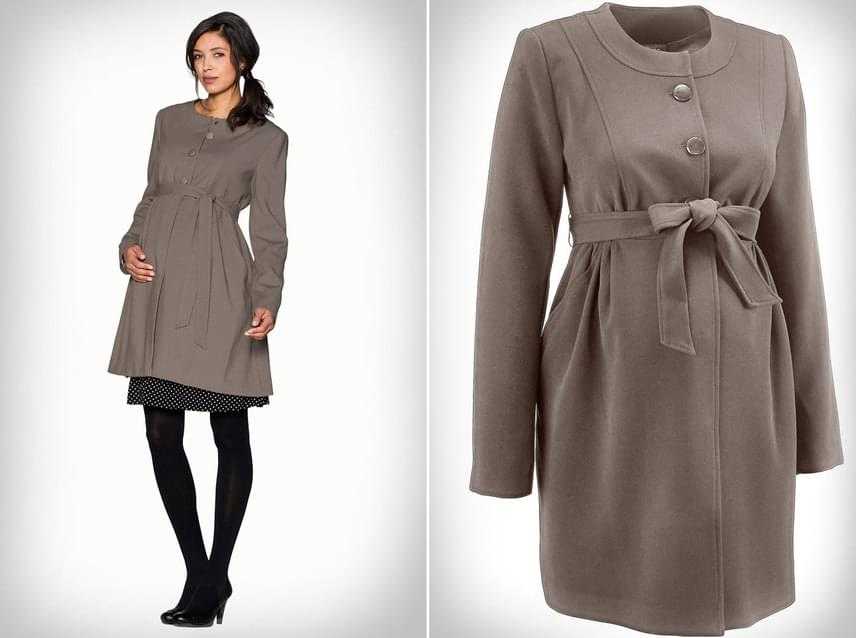 Ha egy igazán nőies kabátra vágysz, akkor ez a megkötős darab kedvedre való lehet. Kerek nyakmegoldása, ráncolt dereka és a masnira is köthető öv teszi igazán bájossá.Bon Prix, 7999 forint