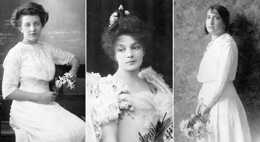 A női szépséghez és a tisztasághoz nagyon szorosan kapcsolódott a makulátlan fehér ruha, így a nők nem csak az esküvőjük alkalmával öltöztek díszes fehérbe. Ugyancsak népszerűek voltak a gazdag csipkék és a rengeteg, általában valódi virágdísz, melyek szintén nagyon nőiesnek számítottak. Gyakran viseltek ilyen visszafogott, gyermeki bájjal rendelkező darabokat azok a nők, akik csábítani szerettek volna.