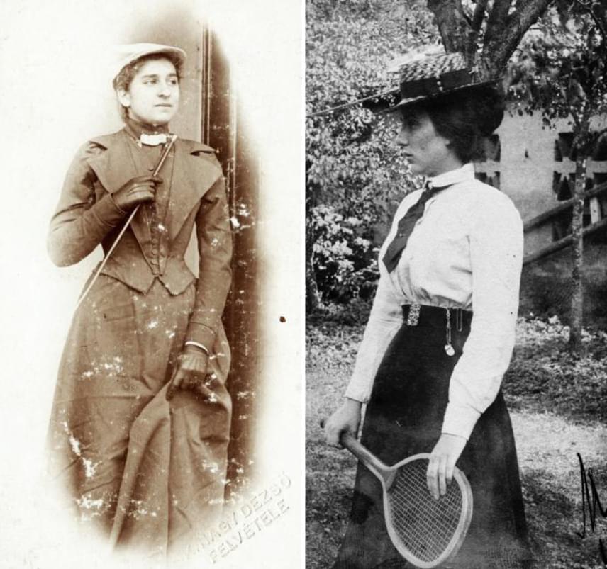 Noha a sportosabb, például lovagláshoz vagy teniszezéshez viselt ruhák praktikusabb kialakítást kaptak, mégsem volt mégszáz évvel ezelőtt jellemző, hogy egy nő nadrágot vegyen fel. Éppen ezért mai szemmel kissé túlöltözötten elegánsnak hat az akkori sportos divat.