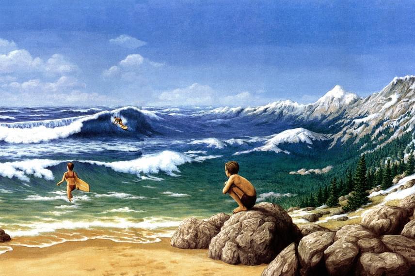A legtöbben először a tengert veszik észre, a hegyeket csak második blikkre látják meg. Neked mi tűnt fel hamarabb?