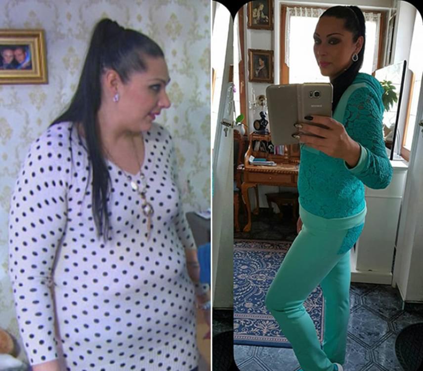 Jellinek Tina október közepéig majdnem kétszer ennyi súlyfeleslegétől, 21 kilótól szabadult meg. Bámulatos az átalakulás, amin néhány hónap alatt átesett.