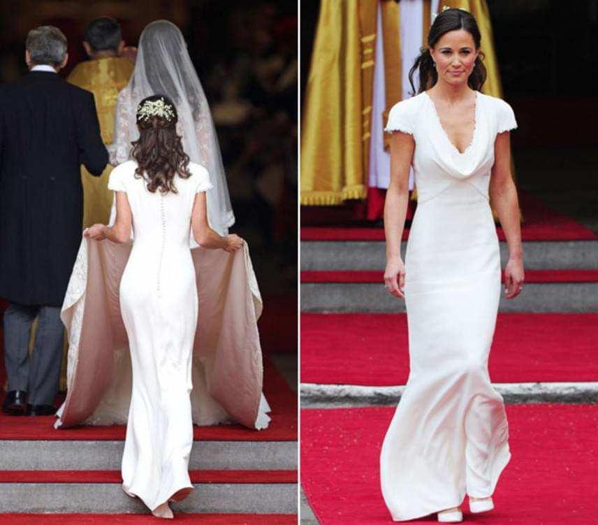 Az állítólagos barátnő elárulta a magazinnak, hogy Pippa odavolt a koszorúslányruháért, amit nővére esküvőjén viselt, és valami egészen hasonló darabban mondja majd ki a boldogító igent.