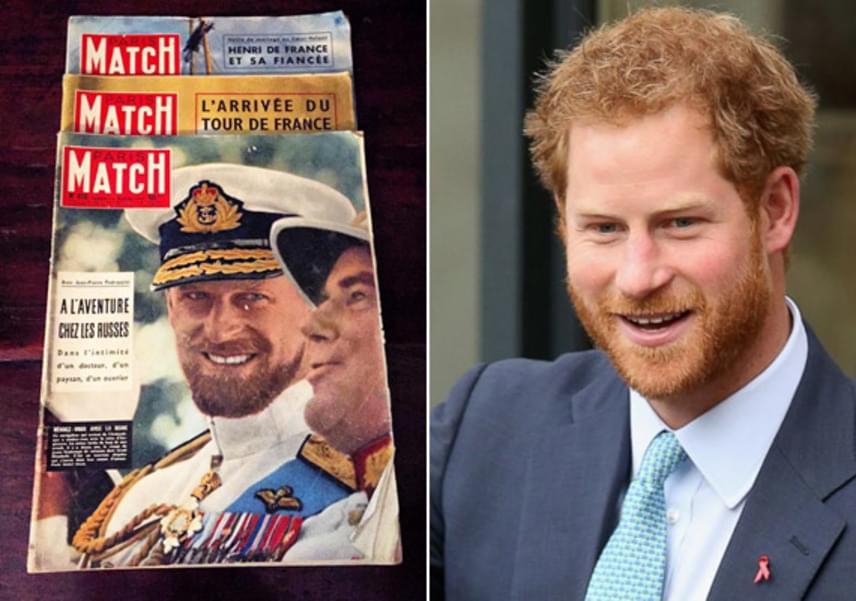 """""""Nem csoda, hogy a királynő úgy imádja Harryt, hát tiszta Fülöp herceg! Így már az is megvan, kitől örökölte a vörös haját"""" - írta egy kommentelő a fotó alá."""