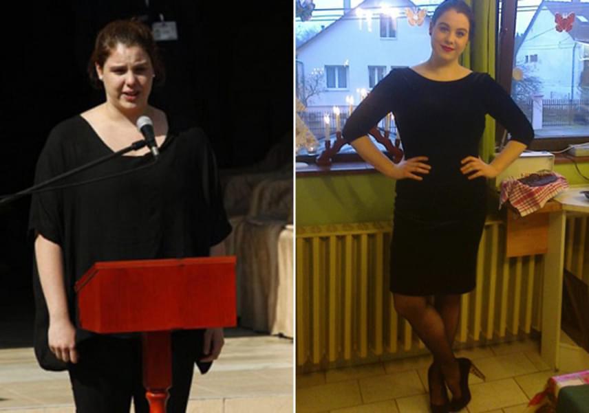 Bajor Lili 2014. augusztus 22-én, édesapja temetésén beszédet is mondott. A jobb oldali képen a színművész lánya már 25 kilóval könnyebben látható.
