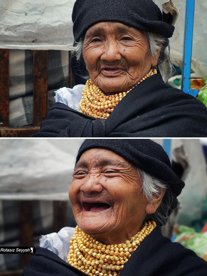 A fotós Törökországban, Samsunban született, de ma már mindenhol otthon érzi magát. Ez a kép a 74 éves Margaritáról készült Dél-Amerikában.