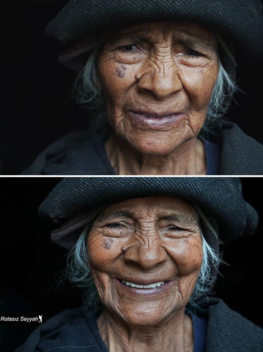A fényképész jelenleg Brazíliában, Manausban él. Különleges portrékat készít a dél-amerikai bennszülött lakosságról. A 70 éves Maria-Dolorest Ecuadorban kapta lencsevégre.