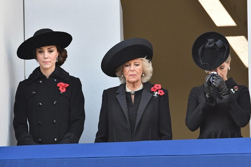 Edward herceg feleségét, Sophie Wessex grófnét láthatóan nagyon megindította a megemlékezés - alig bírta visszatartani a könnyeit.