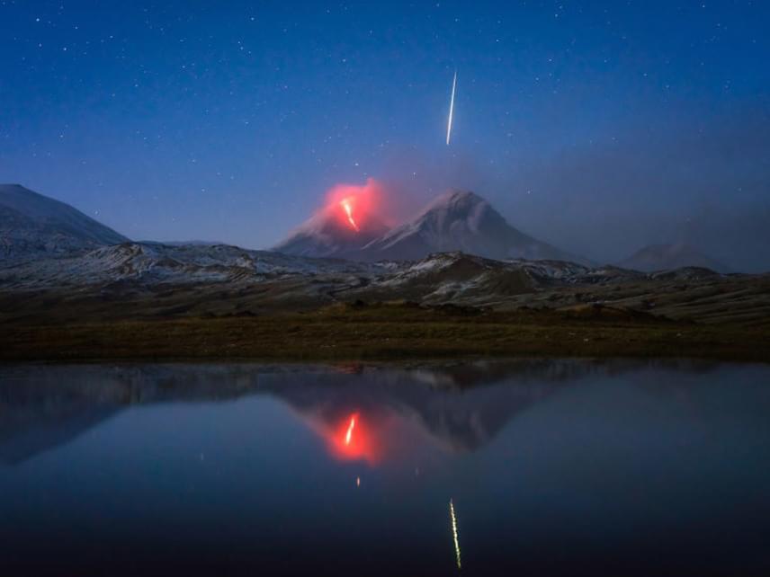 Íme, a fotó, amelyen Thomas véletlenül megörökített egy hatalmas meteort.