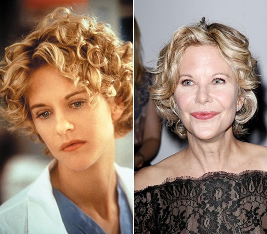 Meg Ryan egy kisebb szerepben a Top Gunban is feltűnt, de az áttörést karrierjében az 1989-es Harry és Sally című romantikus film hozta meg számára, amiért első Golden Globe-jelölését kapta. Az egykor bájos színésznőre ma már alig lehet ráismerni.