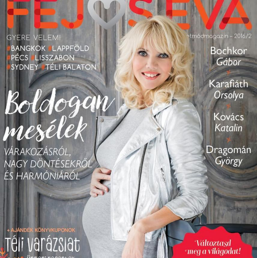 Fejős Éva 49 évesen első gyermekével várandós, egyre gömbölyödő babapocakját pedig magazinja címlapján mutatta meg. Még több magyar sztár, aki 40 fölött lett először anya »