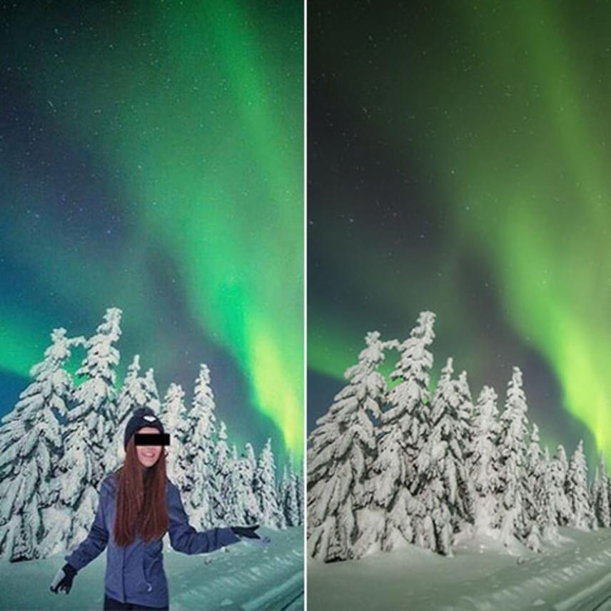 Ezzel a fotóval bukott le Louktarn Ticha: egy hozzászóló felhívta a rajongók figyelmét, hogy az Instagram-sztárt mindössze rászerkesztették a jobb oldalon látható, eredeti fotóra.