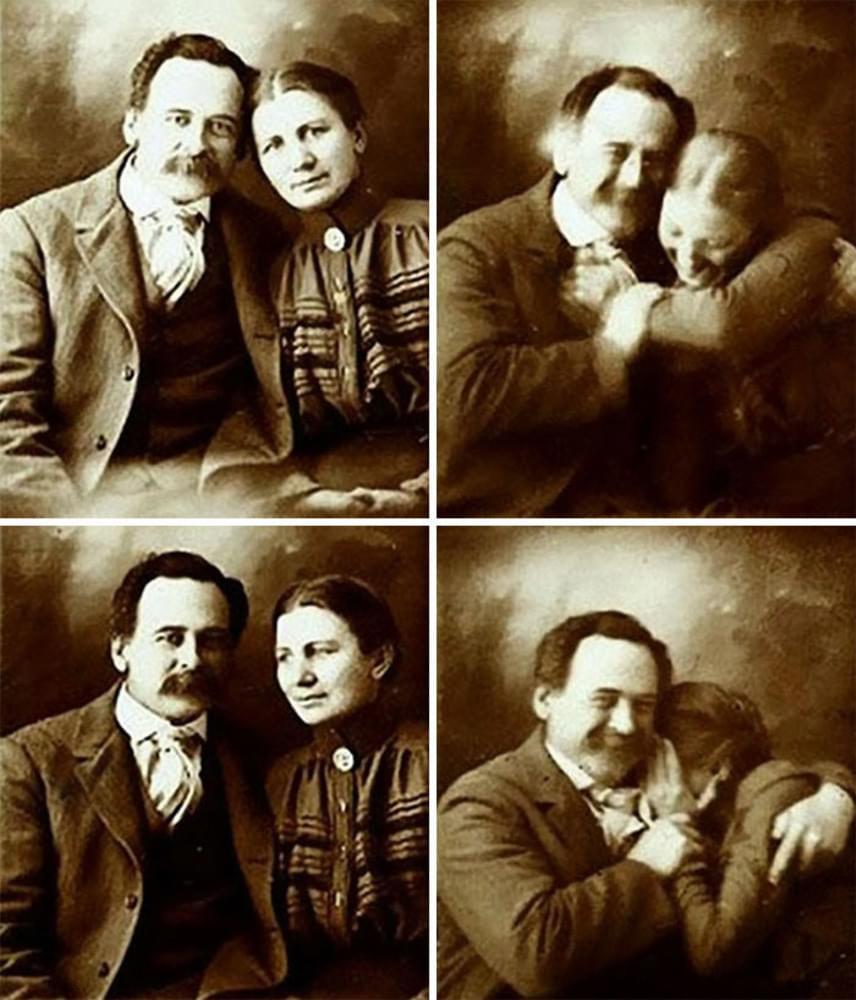 Egy viktoriánus kori pár próbálja kibírni nevetés nélkül a portréfotózást az 1890-es években. Ők is ugyanolyan komolytalanok tudtak lenni, mint a modern emberek.