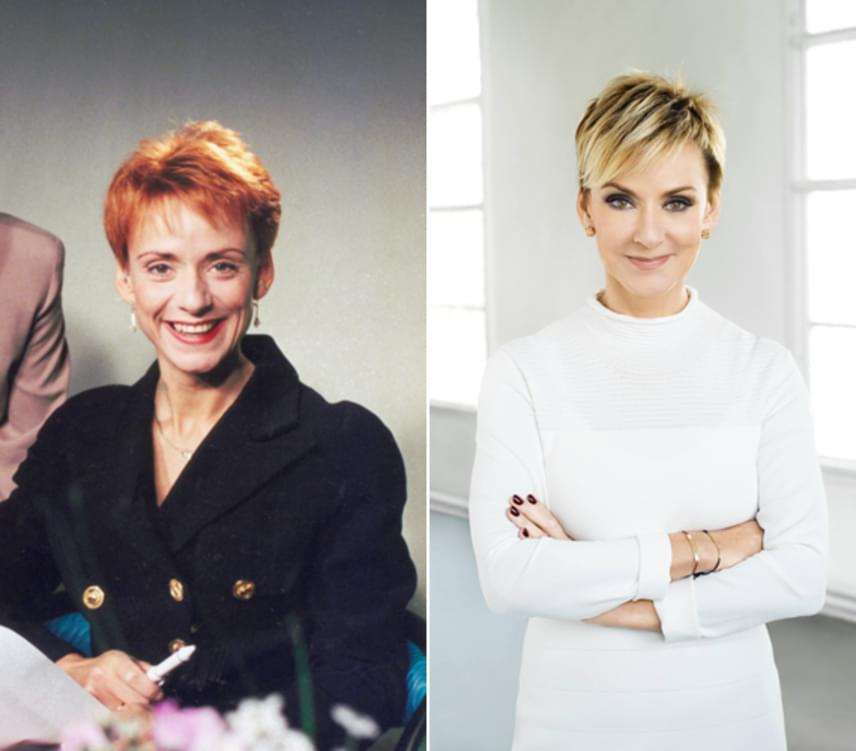 A bal oldali felvétel 1996-ban készült a Szerencsepercek forgatásán. Jakupcsek Gabriella 54 évesen is csodaszép.