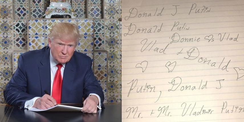 Egyesek szerint az oroszokkal szövetkezve sikerült megszereznie az elnöki posztot Trumpnak, így egy humoros Twitter-felhasználó szerint Donald Trump már azon gondolkozik, hogy az esküvőn hogy vegye majd fel Putyin elnök nevét.