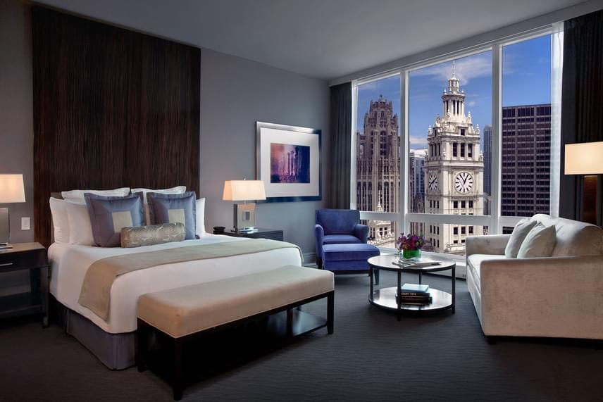 Trump szállodái közül 2016-ban négy - a két New York-i, a torontói és a képen látható chicagói - nyerte el az elit ötgyémántos besorolást, melyre az AAA szervezete az évben megvizsgált 28 ezer luxushotel közül mindössze 118-at tartott méltónak.