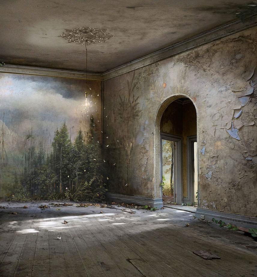 A matt festés tulajdonképpen egy üveglapra készített kép, mely arra szolgál, hogy nagy kiterjedésű látképet mutasson.