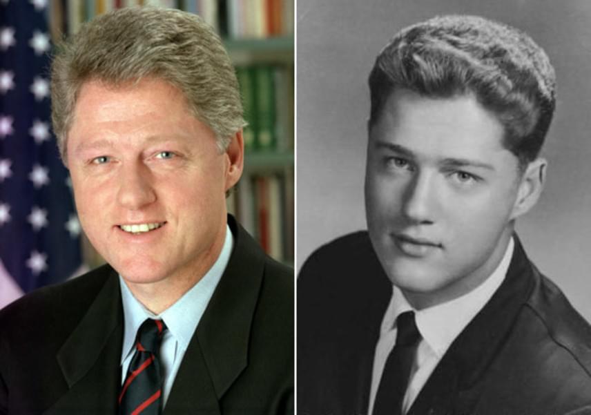 Bill Clinton szinte alig változott az elmúlt néhány évtizedben - csak jó pár ősz hajszállal lett gazdagabb gimis korához képest.