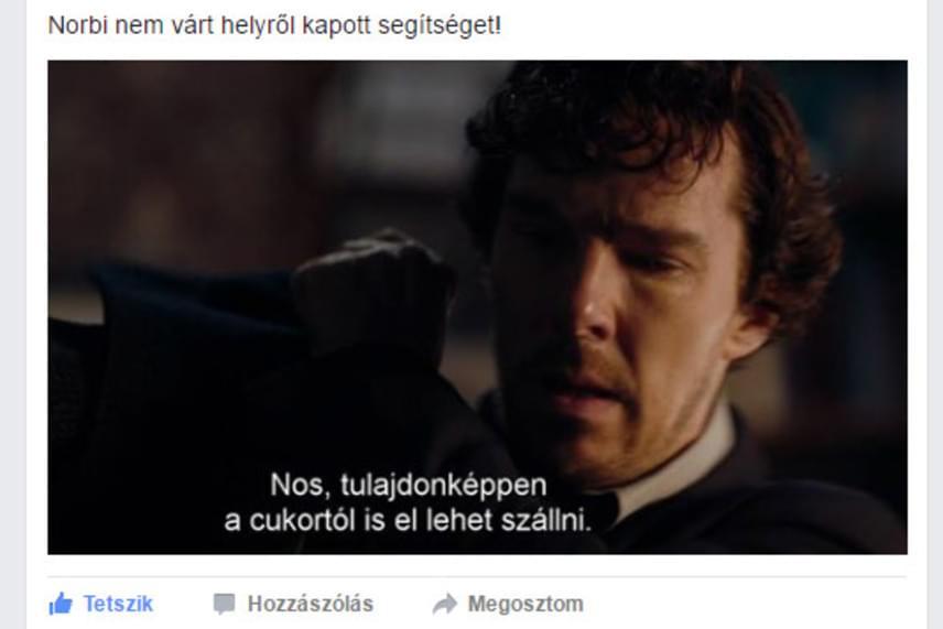 A Sherlock legújabb évadának második részében szúrta ki egy olvasónk ezt a mondatot, ami nem is passzolhatna jobban a hét eleji történésekhez.