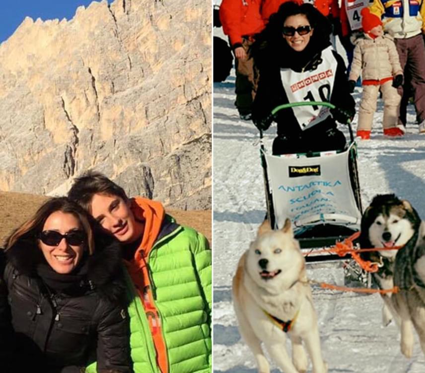 Sabrina Salerno 2004-ben adott életet egy szem fiának, Lucának, aki le sem tagadhatná híres édesanyját. Ezek a fotók Cortina d'Ampezzo közkedvelt sípályáinál készültek, ahová együtt utaztak január elején.