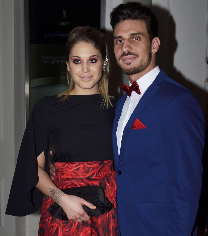 Nyári Dia és párja  A Barátok közt színésznője először jelent meg ilyen nagyszabású eseményen új párjával, Kovács Dániellel, az MTVA sportriporterével.