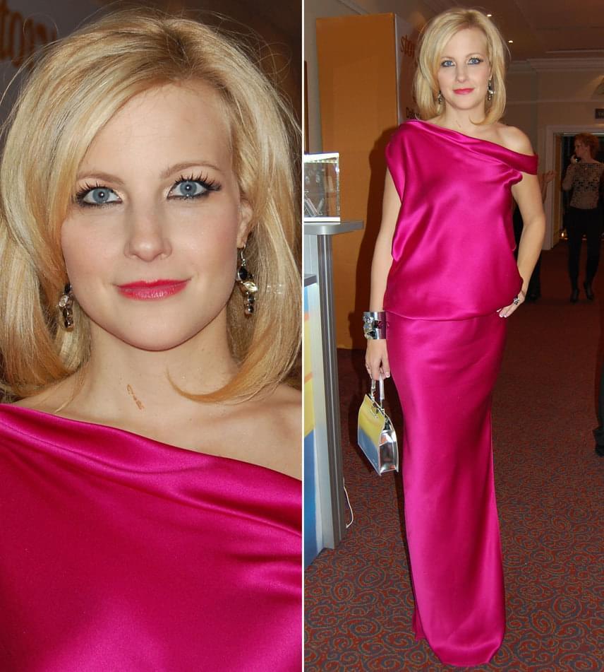 Várkonyi Andrea legutóbb 2012-ben vett részt a Story-gálán, akkor ő is egy pink estélyit választott, mégpedig Benes Anitától, a Daalarna tervezőjétől.