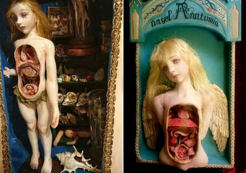 Mari Shimizu gyakran foglalkozik az emberi - és angyali - anatómiával.