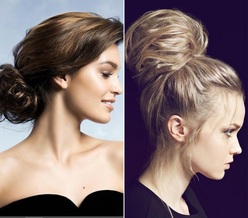 A konty is remek frizura ilyenkor, ráadásul ezzel kell talán a legkevesebbet bíbelődni. Csak fogd fel egy hajgumival, vagy használj hajfánkot, ha azzal gyorsabban megy.